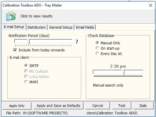 Calibration Toolbox ADO - Calibration Management Software