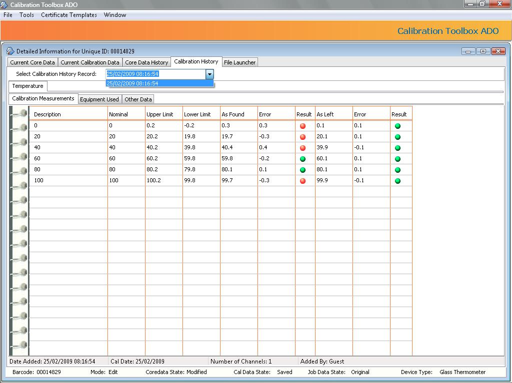 Calibration toolbox ado calibration management software from all your data at your fingertips yadclub Gallery
